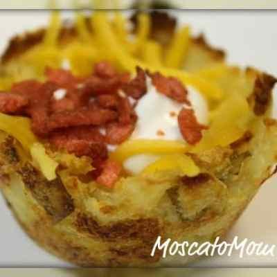 Tailgating Tater Muffins – aka. Loaded Potato Boats Recipe