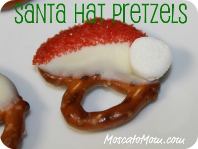 Simple Santa Hat Pretzel Candy