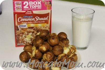 Cinnamon Streusel Muffin Cake Pops