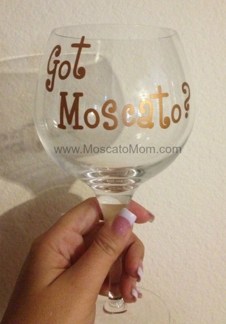 got moscato wine glass
