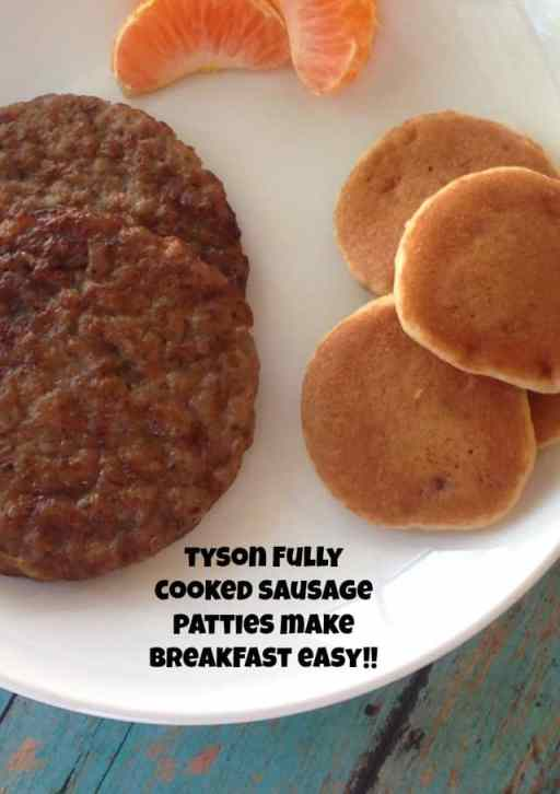 tyson fully cooked sausage patties