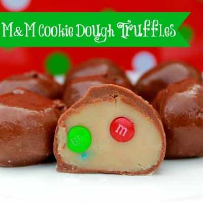 No Bake M&M Cookie Dough Truffles