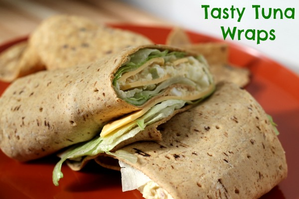 tuna fish salad wraps