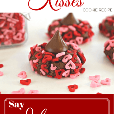 Chocolate Kiss Valentine's Day Cookies