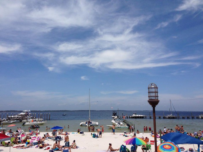 The view for lunch last week - Pensacola Beach Boardwalk