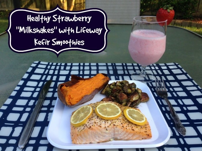 healthy strawberry milkshakes