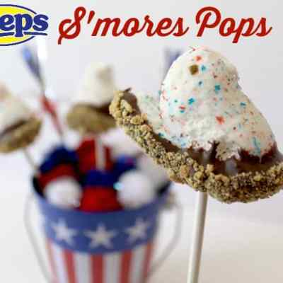 Fourth of July Peeps S'mores Pops