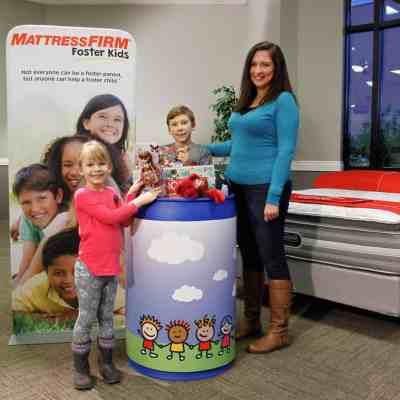 Mattress Firm Foster Kids Toy Drive in Pensacola
