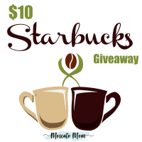 $10 Starbucks Giftcard Giveaway