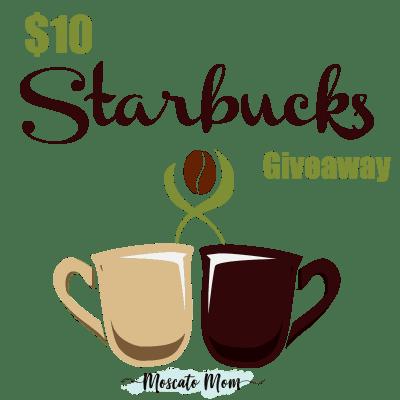 $10 Starbucks Giftcard Giveaway
