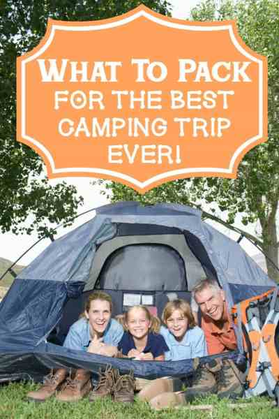 What To Pack For Family Camping Trip
