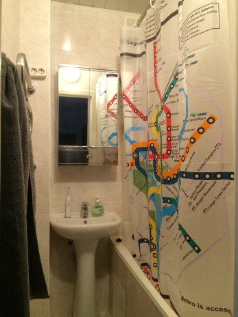 """Half of my two bathroom """"closets"""". But a full tub! My toilet is in a separate """"closet""""."""