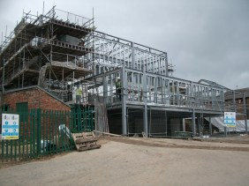 Construction phase - steelwork