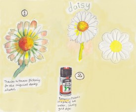 Daisy Bag sketchbook page 1
