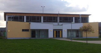Neue Halle hinter Stefan-Andres-Sporthalle