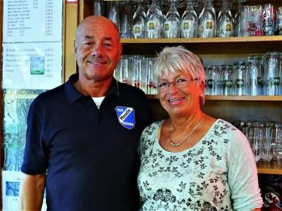 Erna und Erwin Mertes, Gastwirt auf dem Sportplatz am Winzerkeller