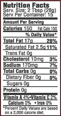 Mose's Fish Shop Tartar Sauce Nutrition Facts