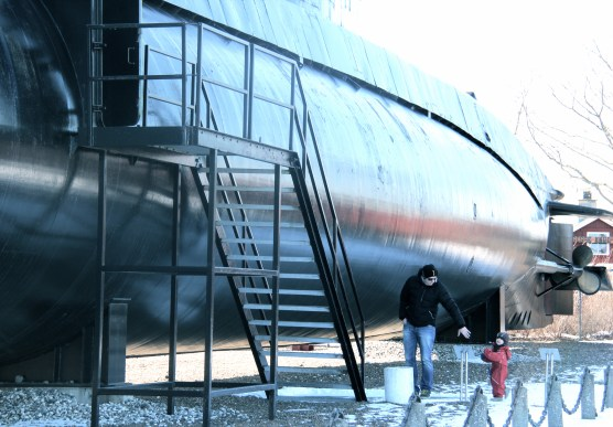 Pappa, minstemann og stor ubåt