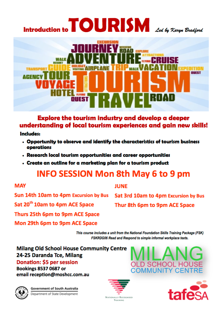 Intro to tourism flier