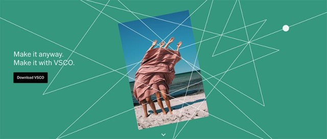 VSCO for image editing iphone and android
