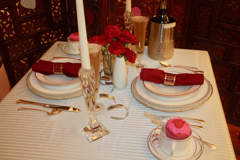 Wine Chiller u2013 Cynthia Rowley Chargers u2013 Baum Brothers Bernodotte Ivory Dinner Plates u2013 Ralph Lauren Ella Rim Soup Bowls u2013 Ralph Lauren Red Pagoda & Valentineu0027s Day Table Setting: Romantic Table for Two - Moshi Motif