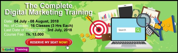 The Complete Digital Marketing Training, Dhaka, Bangladesh, Bdjobs Training,