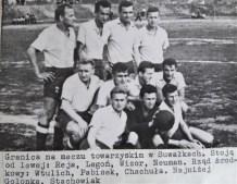 Rok 1963. Przed meczem w Suwałkach.
