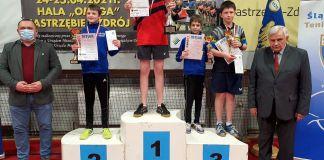 Wiktor Ptak na podium - 1 miejsce