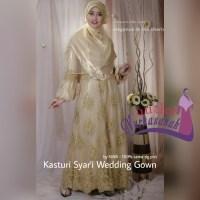 Baju Pengantin Muslimah Modern Kasturi Syar'i Wedding Gown (made by order)