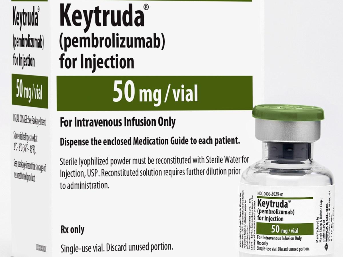 Упаковка препарата «Китруда» (Keytruda, пембролизумаб).