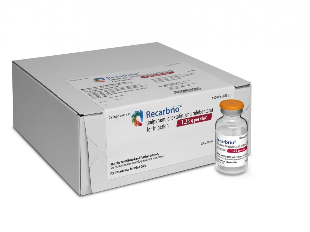 «Рекарбрио» (Recarbrio, имипенем + циластатин + релебактам).