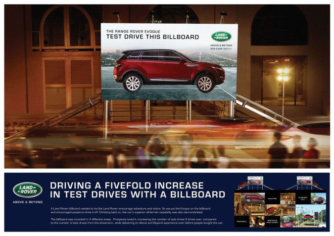 Land Rover The Test Drive Billboard MosnarCommunications