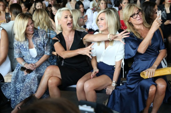 Ramona Singer, Dorinda Medley, Tinsley Mortimer and Sonja Morgan at Pamella Roland Show NYFW 2018 Mosnar Communications