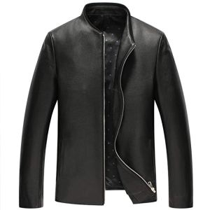 Cwmalls Mens Slim-Fit Leather Jacket Mosnar Communications