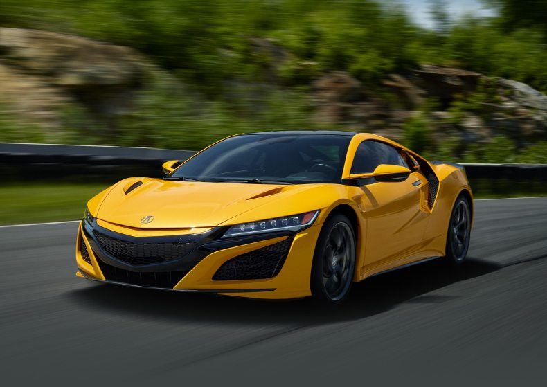 Acura-NSX-Indy-Yellow-Pearl-Mosnar-Communications Luxury Cars Millionaires Drive