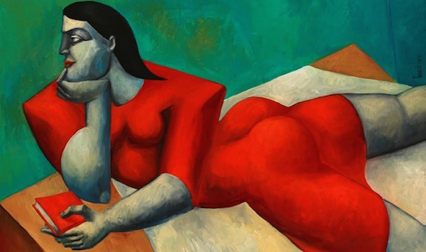 Woman in Red by Yuroz