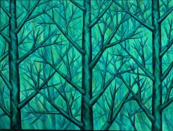 Harmony in Green by Yuroz oil on canvas 80
