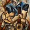 Serenade with Guitar original oil on canvas by Yuroz