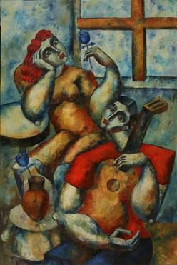 "6491 ""Beautiful Offerings"", Oil on Canvas, 72"" x 48"" (183 cm x 121 cm)"