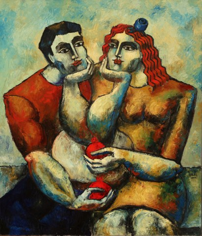 6496 - The Proposal, Oil on Canvas, 55 x 45 inches (139.7 x 114.3 cm)