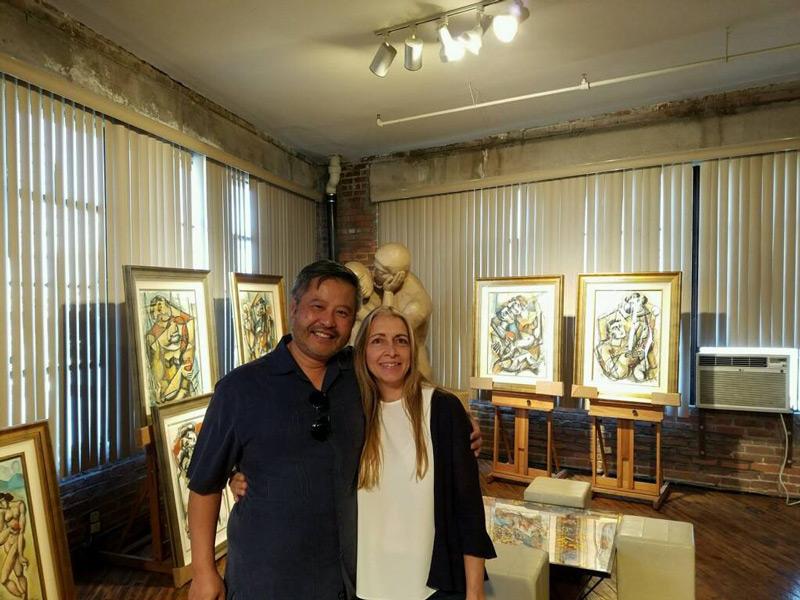 guests at yuroz art studio