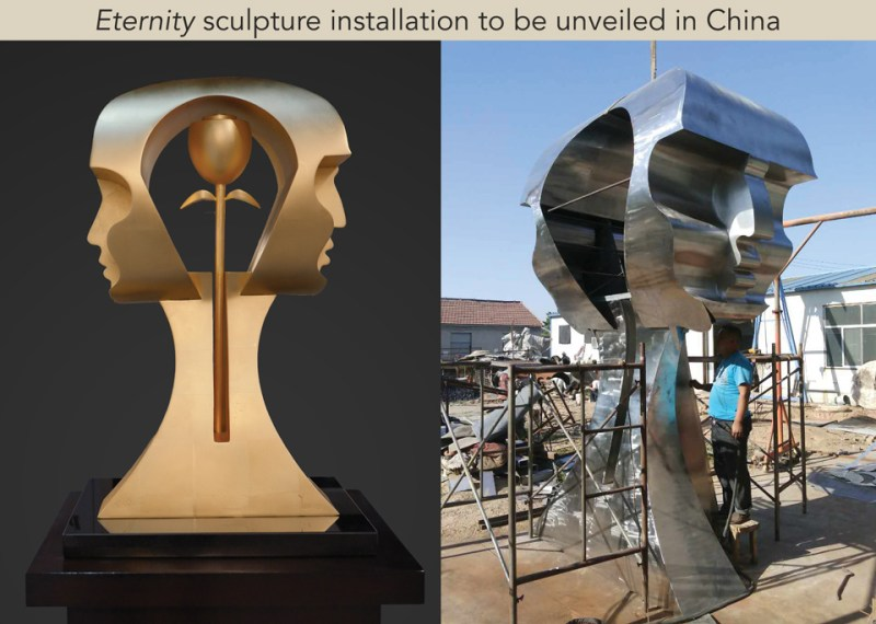 Eternity installation by Yuroz unveiled in JIMO City, China