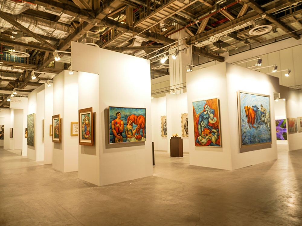 Yuroz and Moso Art Gallery booth at Art Stage Singapore 2017