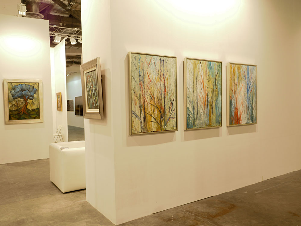 Yuroz and Moso Art Gallery booth at Art Stage Singapore 2017 - Idyllic Forest Series by Yuroz