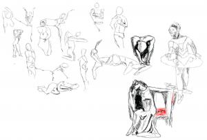 Sesión de dibujo en vivo