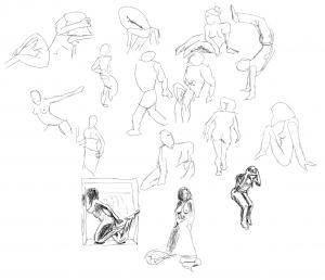 Otra sesión de dibujo en vivo