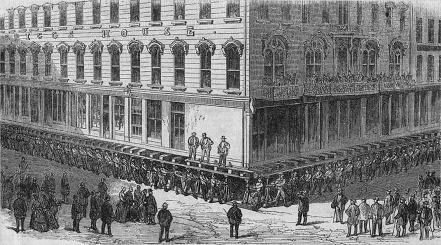 briggs house hotel raising chicago 1866