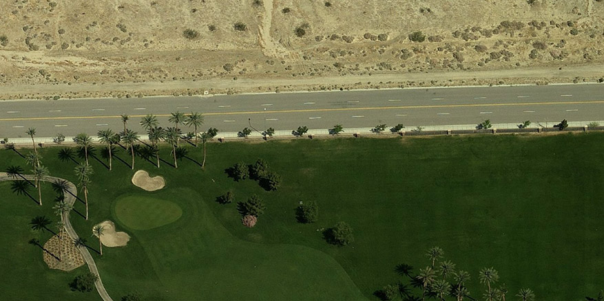 golf course next to the desert 1