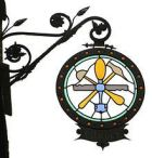 wrought-iron guild sign of a glazier in Germany