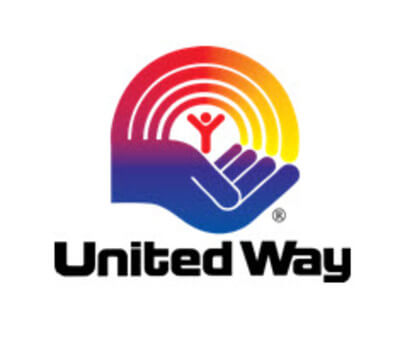 United Ways logo symbolising helping hands on the logo